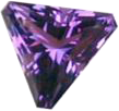triangular amethyst