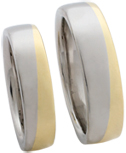 platinum and gold wedding bands