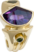 amethyst and tourmaline ring