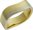 white gold and yellow gold wedding bands